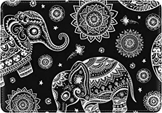 Mydaily African Tribal Ethnic Elephant Leather Passport Holder Cover Case Protector