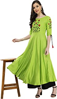 AnjuShree Choice Women's Rayon Anarkali Kurta