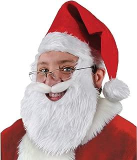 Plush Santa Hat w/Beard & Moustache Party Accessory (1 count) (1/Pkg)