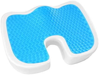 Plixio Gel Seat Cushion Memory Foam Chair Pillow with Cooling Gel for Sciatica, Coccyx, Back & Tailbone Pain Relief -...