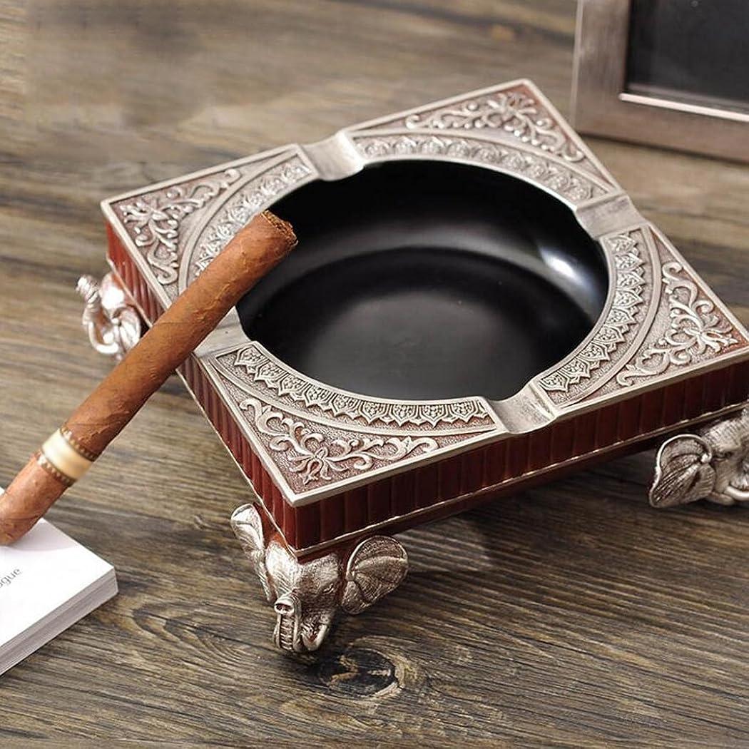 タバコシティチャンバー灰皿 レトロ灰皿の人格創造的な工芸の装飾贅沢な居間ラグジュアリーエレファントコーヒーテーブルの装飾(17.5 * 17.5 * 7.5センチメートル)