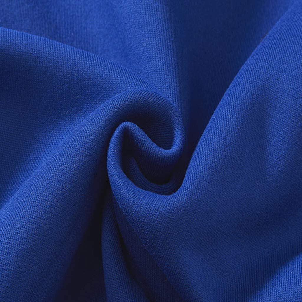 BOLANQ Damen Sweatjacke mit Kapuze hochwertig verarbeitet - kuschelig & Warmer Pullover B-blau