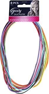Goody, Ouchless Reversible Headbands, Bight Colors, 0.10oz, 8 Count, 1 Pack
