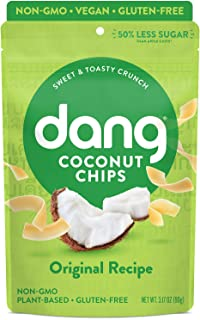 Dang Toasted Coconut Chips | Original | 1 Pack | Vegan, Gluten Free, Non GMO, Healthy Snacks Made with Whole Foods | 3.17 ...