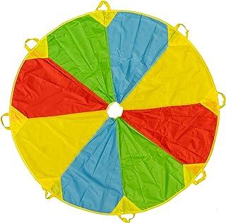 comprar comparacion Paracaídas de Color Arcoiris de 6 pies - Con 8 asas - Horas de diversión y entretenimiento para niños y bebés pequeños - A...