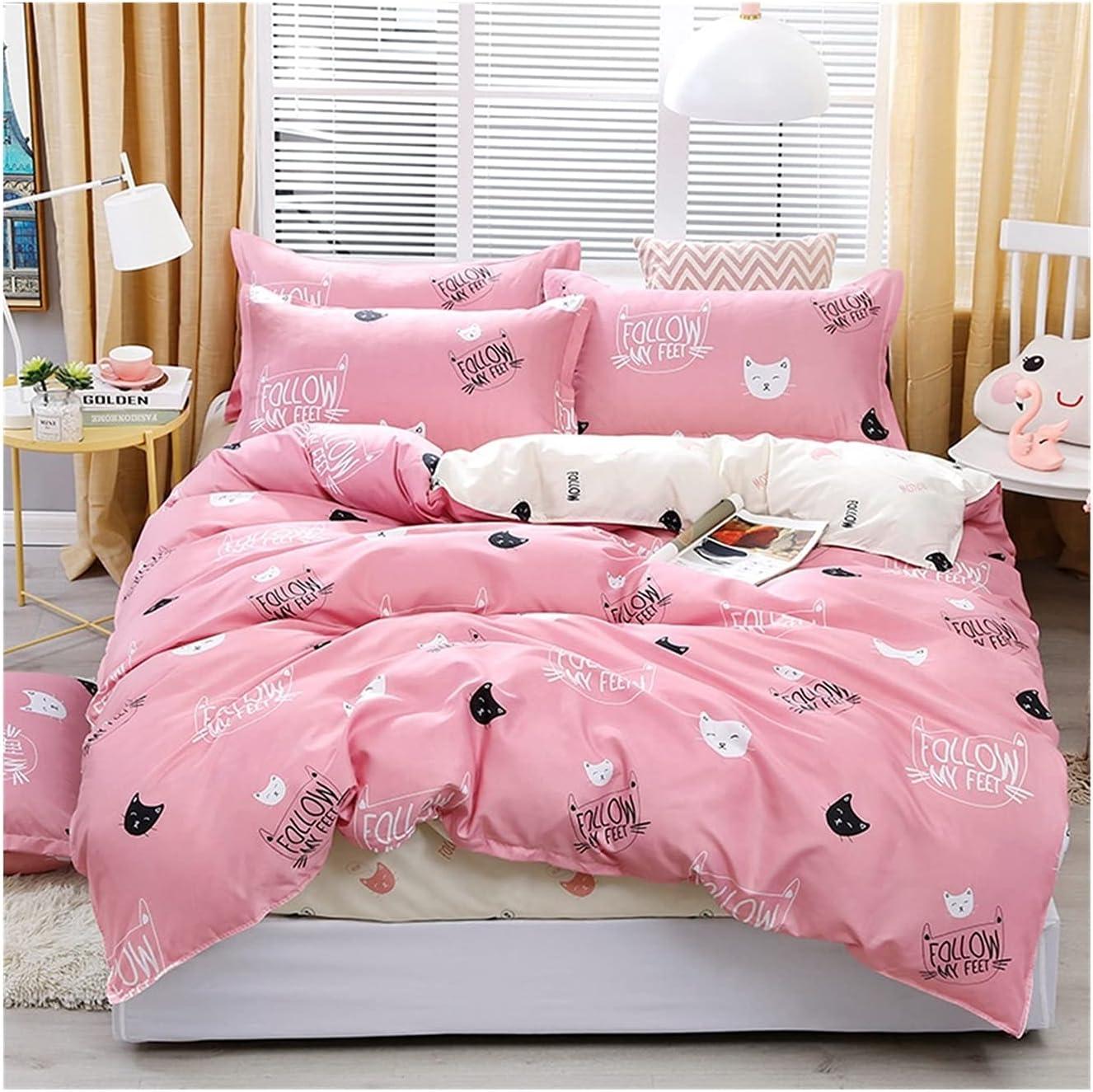 Max 84% OFF LSDJ QMDSH Home Max 89% OFF Textile Girl Bedding Duvet Peach Pink Set Cover