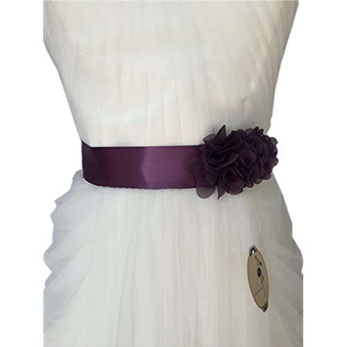 cfde49c9578 Simple Flowers Belts sashes for Wedding party bridal Dress A06