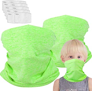 Kids Neck Gaiter for 6-14 Years Olds with Carbon Filter, UV ProtectionFace Cover for Hot Summer Cycling Hiking SportOutdoor