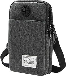 3-Layers Waterproof Cell Phone Pouch Crossbody Purse Oxford Fabric Belt Bag Wallet for Men Women