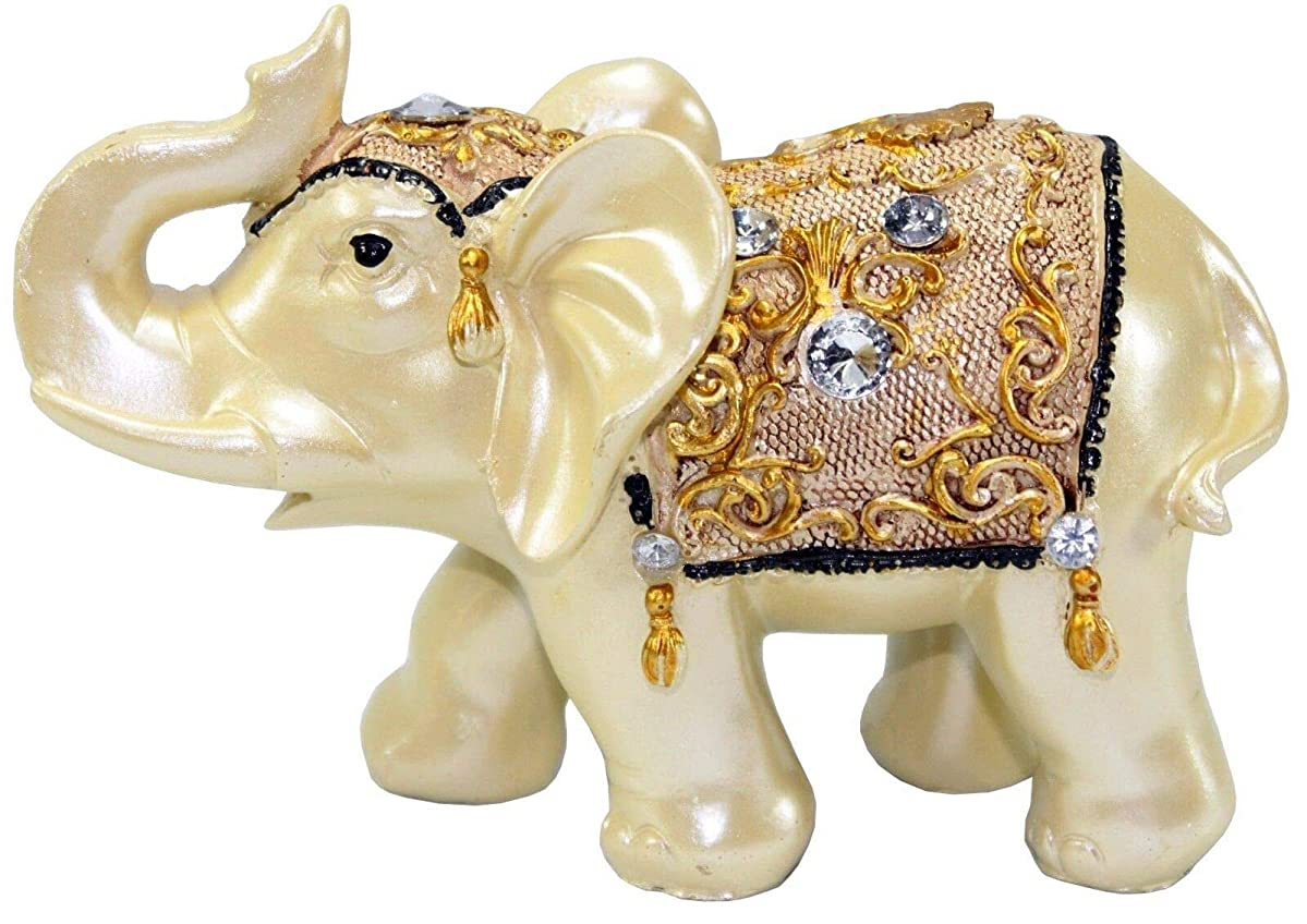 Feng Shui Elephant Trunk Statue Lucky Wealth Figurine Gift & Home Decor 4.5