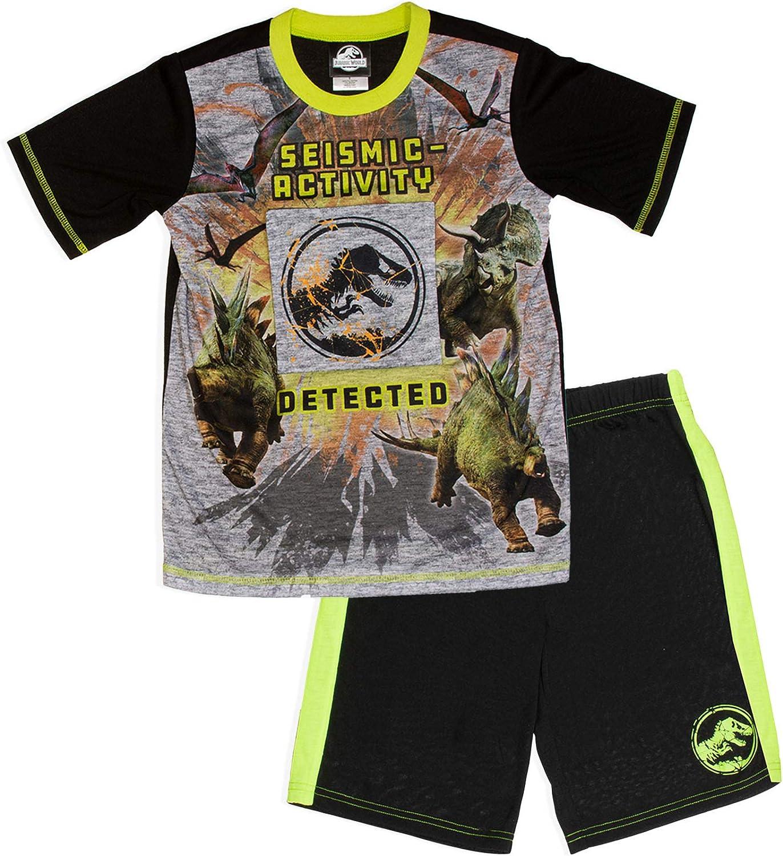 Jurassic World Boys 2 Piece Pajama Set with Flap Down Pocket Size 4/5 to 10/12