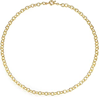 Oval Chunky Chain Necklace Bracelet Set Gold Link Chain for Women and Men