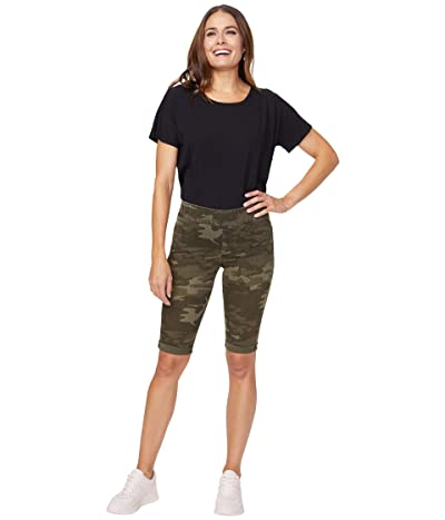 NYDJ 13 Pull-On Shorts with Roll Cuffs (Camo) Women