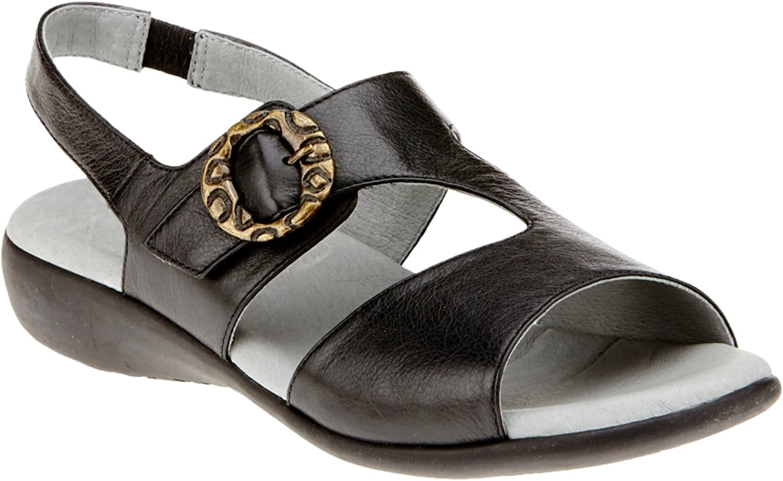 David Tate Women's Jessica Black Calf Sandal 7 W (D)