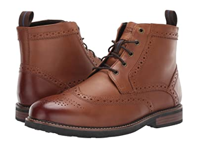 Nunn Bush Odell Wingtip Boot with KORE Walking Comfort Technology (Tan CH) Men