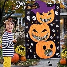 Max Fun DIY Halloween Bean Bag Toss Games with 3 Bean Bags for Kids Party Favor
