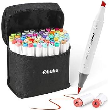 Marcador Brush con 72 colores de Ohuhu, punta de doble cara ...