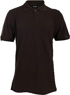 Contender Mens Solid Pique Polo Short Sleeve Shirt