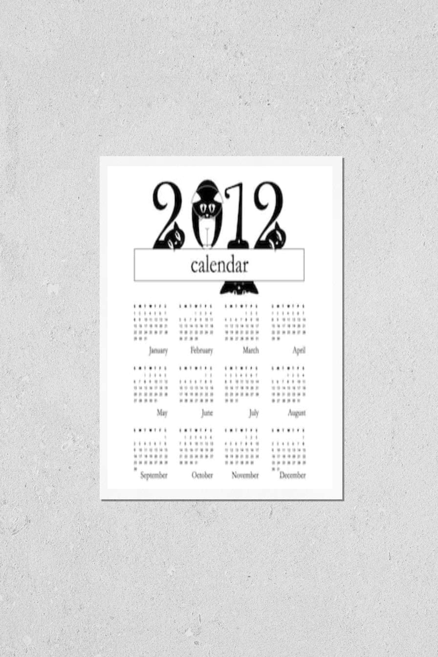 KwikMedia Poster Reproduction of 2012 Max 58% OFF with I Calendar Cats Funny 100% quality warranty!