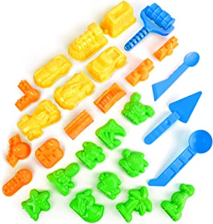 AnanBros Sand Molds - 28pcs Colorful Sandbox Toys Sand Molds, Moon Sand Beach Sand Toys for Kids, Molds with Castle Molds,...
