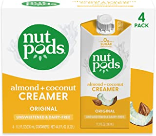 nutpods Original, Unsweetened Dairy-Free Creamer, Whole30, Paleo, Keto, Non-GMO and Vegan, for Coffee, Tea and Cooking, Ma...