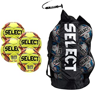 Numero 10 Soccer Ball - Team Pack of 4(Size 4, Yellow)