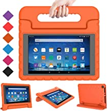 BMOUO Case for All-New Fire HD 8 2017/2018 - Light Weight Shock Proof Convertible Handle Kid-Proof Cover Kids Case for All-New Fire HD 8 Tablet (7th and 8th Generation, 2017 and 2018 Release), Orange