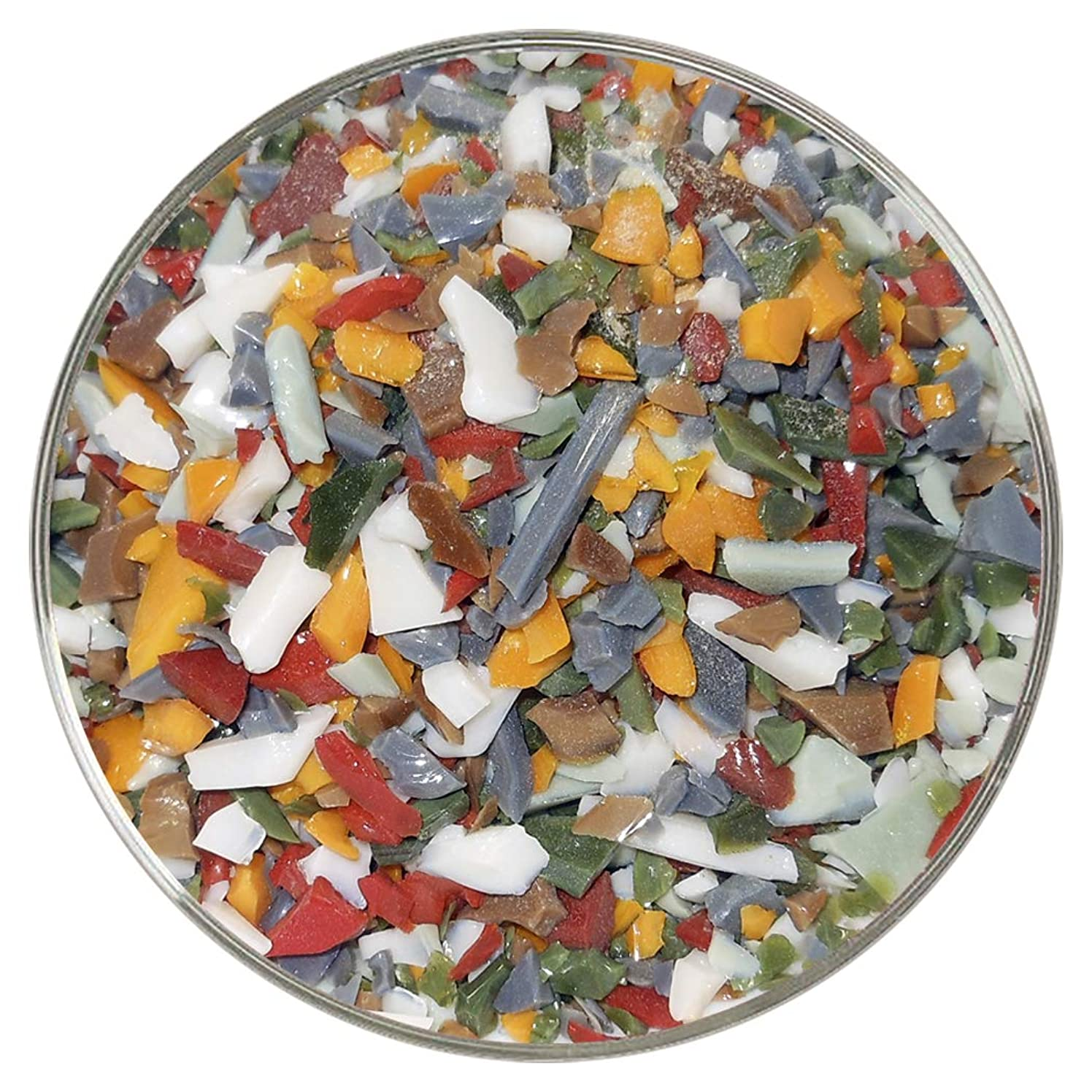 Apple Orchard Designer Collection Coarse Frit Mix - 4oz - 96COE - Made from System 96 Glass by New Hampshire Craftworks