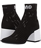 MM6 Maison Margiela - Open Knit Sock Bootie
