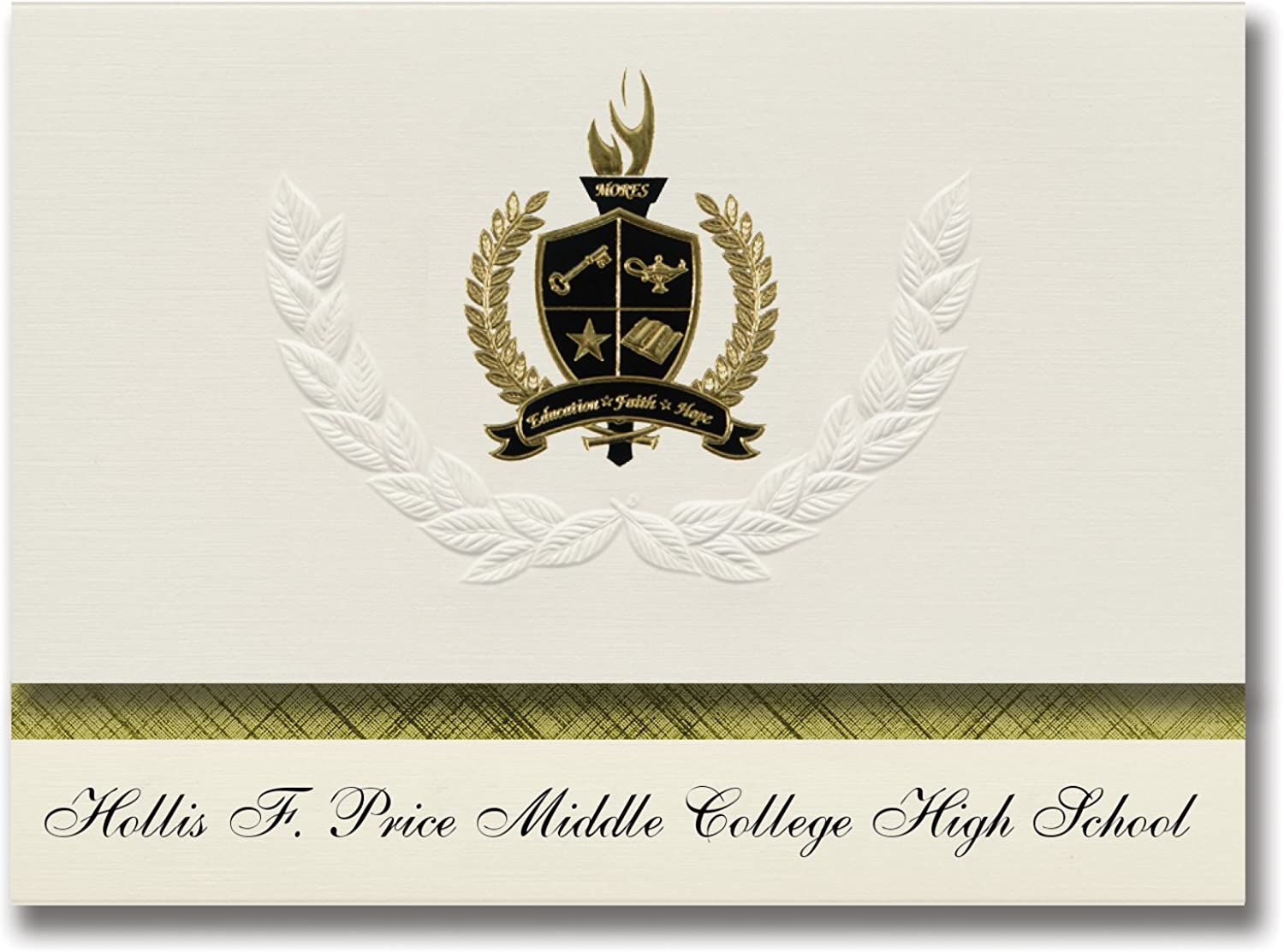 Signature Ankündigungen Hollis f. Preis Mitte College High School (Memphis, TN) Graduation Ankündigungen, Presidential Elite Pack 25 mit Gold & Schwarz Metallic Folie Dichtung B078VD6KFP   | Preisreduktion