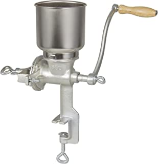 Corn Wheat Grinder Cast Iron Big Hopper Grain Grinder Manual Home Commercial Easy assembly and simple operation
