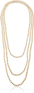 """Freshwater Cultured 7-7.5mm Pearl Endless Strand Necklace, 100"""""""