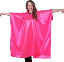 Pink Iridescent Salon Cape with Snaps Professional Quality 45 inch X 60 inch Heavy Duty Material Extra Long Durability for Barbershop and Beauty Shop Use Long Lasting and Specialized (Pink)