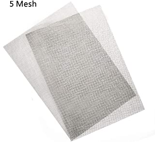 Activists 2pcs Stainless Steel Woven Wire #5 Metal Mesh Sheet 12