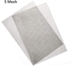 Activists 2pcs Stainless Steel Woven Wire 5 Mesh Sheet 12