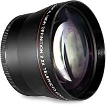 58MM 2.2x Telephoto Conversion Lens for Canon EOS Rebel T6s, T6i, SL1, T5, T5i, T4i, T3, T3i, T1i, T2i, XSI, XS, XTI, XT, 70D, 60D, 60Da, 50D, 40D, 30D, 20D, 10D, 7D, (100D, 300D, 350D, 400D, 450D, 500D, 550D, 600D, 650D, 700D, 750D, 760D, 1000D, 1100D, 1200D) Digital SLR Cameras (Compatible With 18-55mm, 50mm 1.4 , Lens)