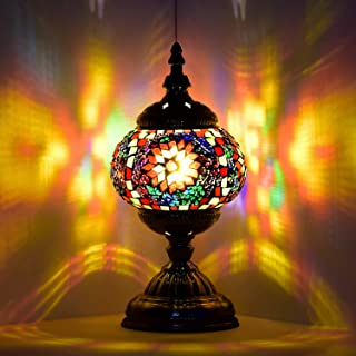 Sponsored Ad – Marrakech Turkish Mosaic Glass Decorative Table Lamp Handmade Moroccan Lantern Tiffany Style Home Decor Des...