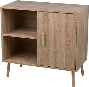 Mobiletto TV 80 x 40 x 75,5 cm MDF Casa Arredo Homestyle Cucina 2 Ripiani + Anta Arredamento Soggiorno