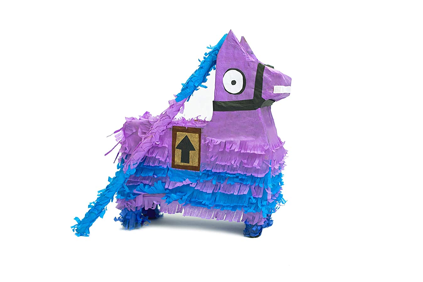 Festive Loot Llama Pinata – Stick included, Great for Fortnight Boy Birthday Parties, Party decorations, Gaming theme parties and other Decorations (fits candy) – By FiestaMex