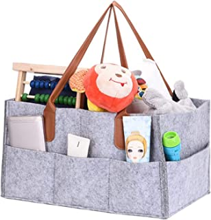 Mumoo Bear Felt storage caddy Baby Diaper Caddy Organizer Basket Portable Storage Bin Large Nursery Bag