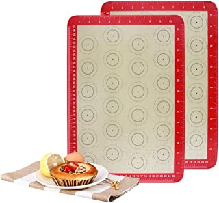 "Non-Stick, Food Safe Baking Mat - Pack of 3 - Bake Pastry & Cookie, 11-5/8"" x 16-1/2""-Inch"