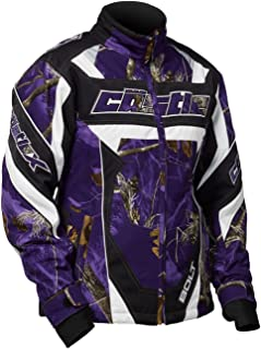Castle X Racewear Bolt Realtree G3/G4 Youth Girls Snowmobile Jacket Realtree AP Purple LG