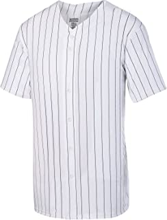 Augusta Sportswear Pinstripe Full Button Baseball Jersey