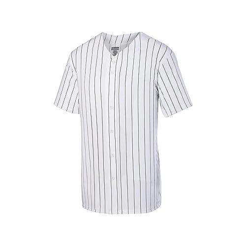 hot sale online 9fcf8 03a0c Pinstripe Baseball Jersey: Amazon.com