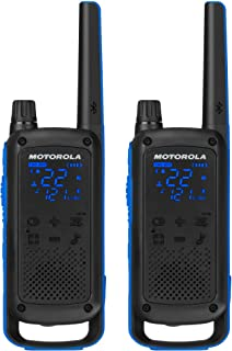 Motorola Talkabout T800 Two-Way Radios, 2 Pack, Black/Blue