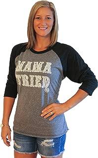 Womens Country Graphic tee Shirt Mama Tried Baseball; Gr/BB