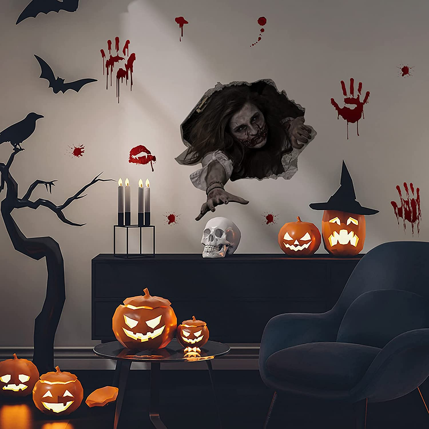 ZSWWang Halloween Decorations Max 40% OFF 3D Wall Max 40% OFF Stickers Toilet Lid Sticke