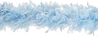 Zucker Feather Products Heavy Weight Decorative Chandelle Boa, Light Blue