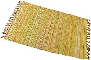 Yewader Chindi Rug Reversible Rag Rug Hand Woven Floor Mat Multi-Color Chindi Area Rug Entryway for Laundry Room Kitchen Bathroom Bedroom Dorm (20'' x 31