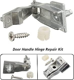 AutoE 1 Set Car Chrome Metal Outer Door Handle Hinge Repair Kit OS/NS For FIAT 500 51964555